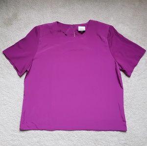 Modern Essentials Fuschia Short Sleeve Top